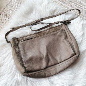 Eileen Fisher Grey Leather Crossbody Bag